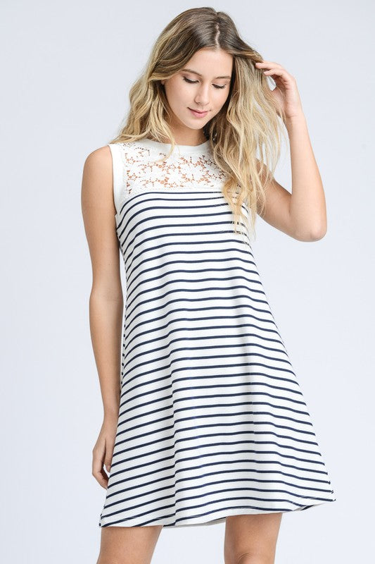 The Daisy Dress - Navy