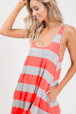 Neon Coral Summer Dress