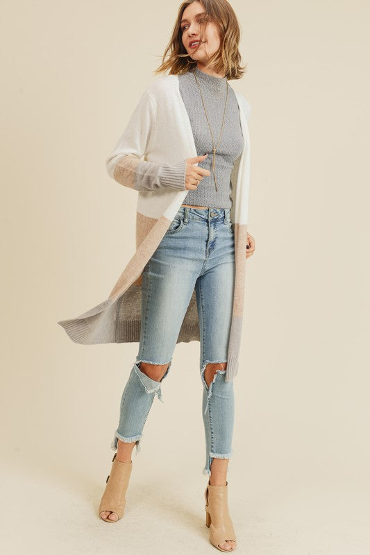 Doe & Ray Color Block Cardigan