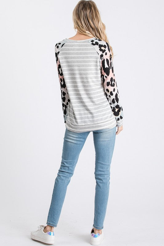 Walk on the Wild Side Raglan Top