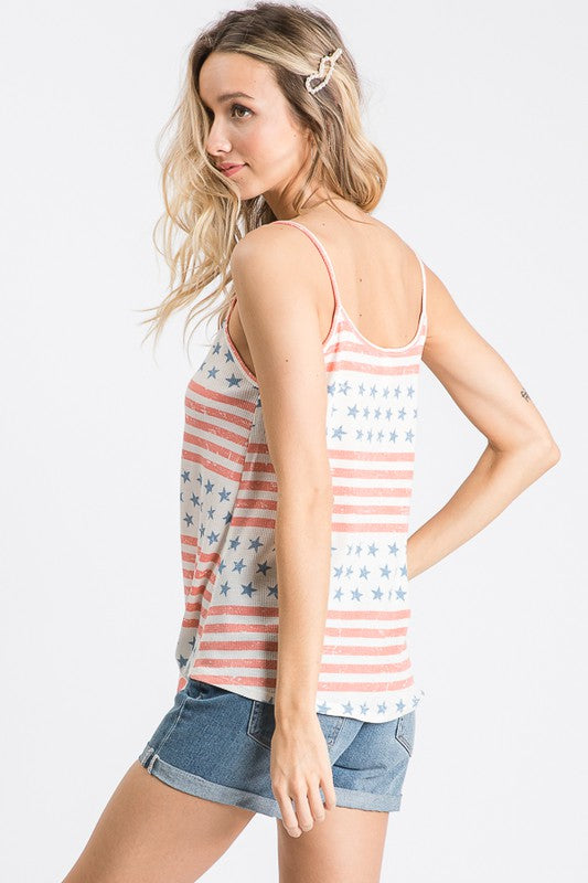 Stars & Striped Button Up Tank