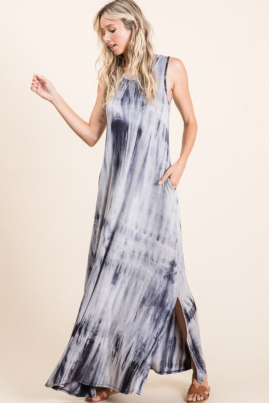 Soft Maxi Tie Dye Dress
