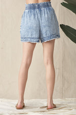 Fray Denim Short