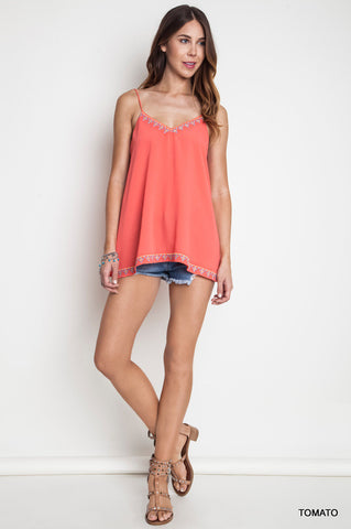 Everly: Free Spirited Tassel Tank Top