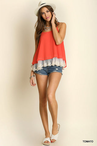 Carefree Lace Tank