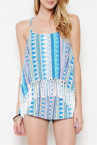 On the Edge Fringe Romper