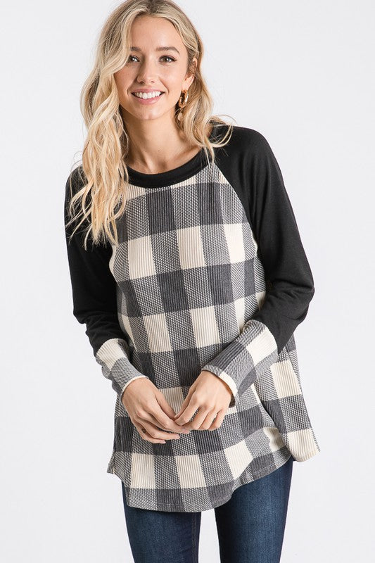 Hailey Buffalo Plaid Raglan