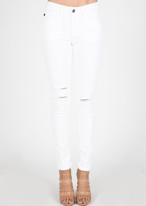 Kancan ripped white jeans