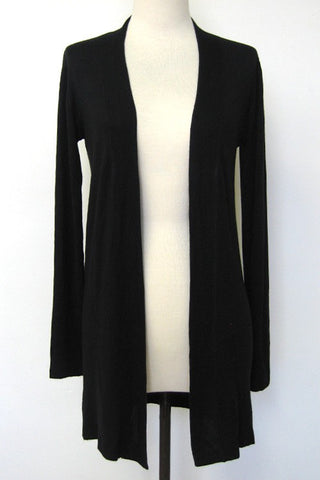 The Heidi Long Line Cardigan - Black