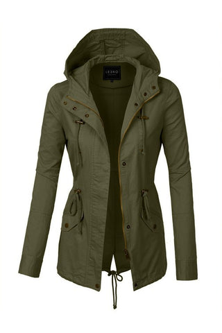 The Shay Military Jacket - Olive
