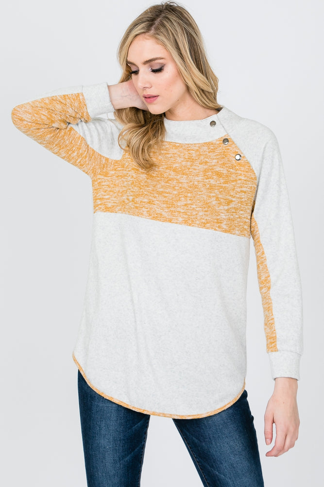 The Jasmine Side Button Pullover