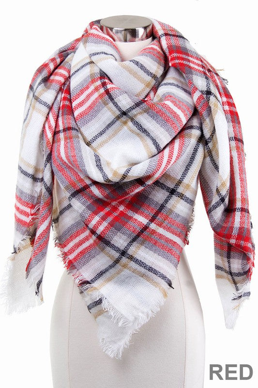 Best Selling Blanket Scarf - Red