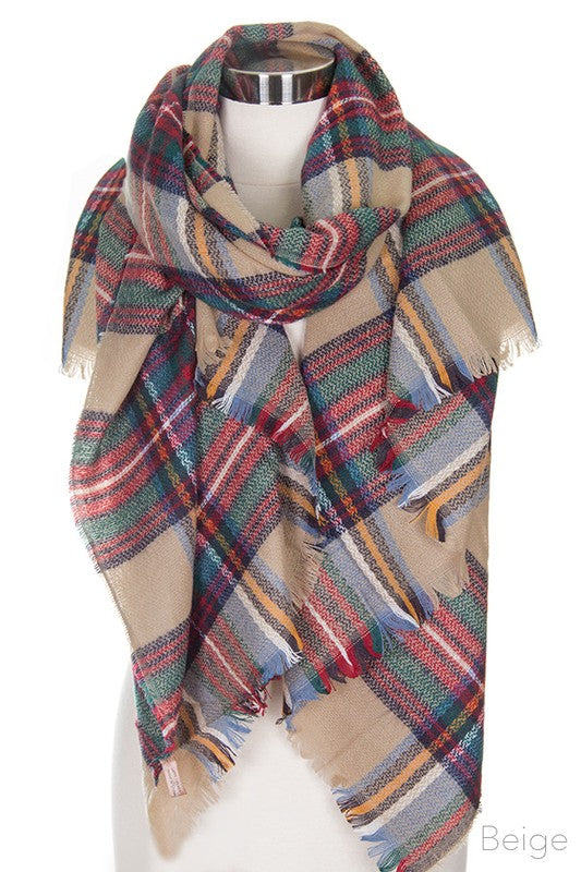 Multi Colored Scarf Blanket Scarf
