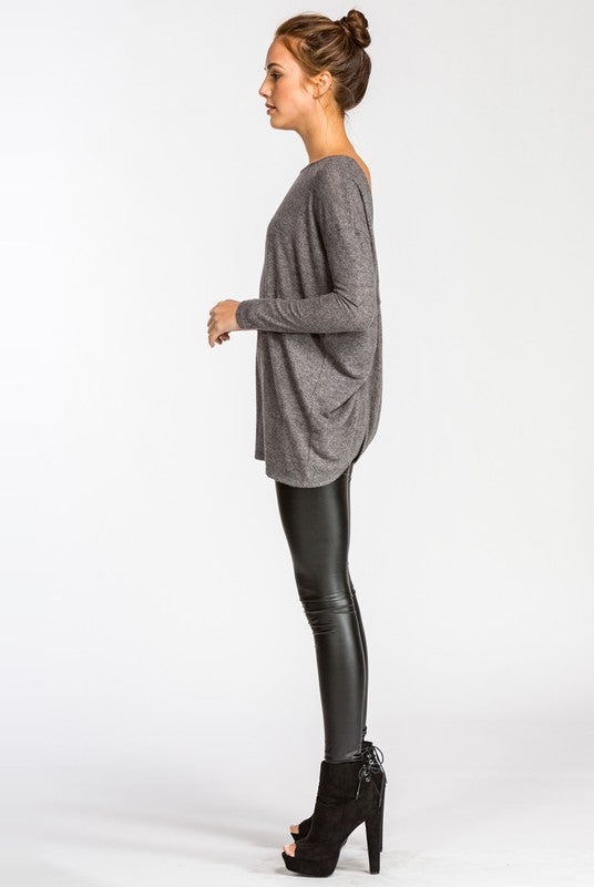 Soft Draped Back Top