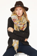 Super Soft Blanket Scarf - Mustard