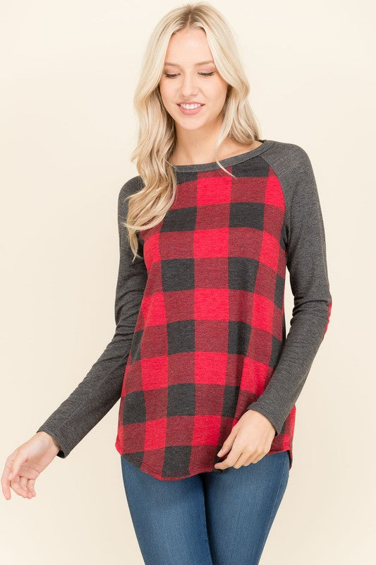Checker Raglan
