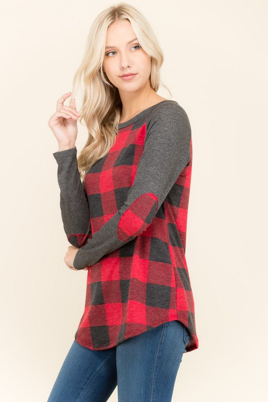 The Mandy Plaid Raglan