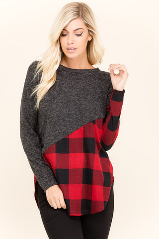 The Danni Checker Top