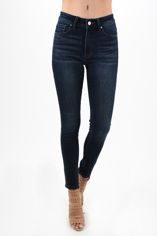 KanCan Dark Wash Skinny Lined with Wool