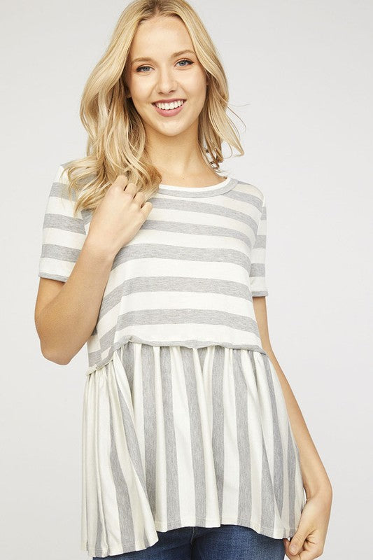 The Bibi Striped Peplum