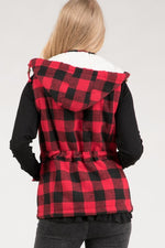 Faux Fur Plaid Vest