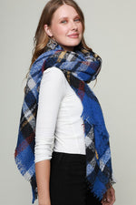 Super Soft Blanket Scarf - Blue