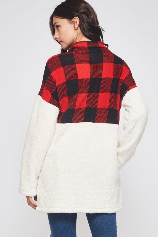 Buffalo Plaid Fuzzy Sherpa