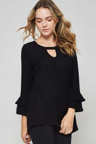 The Heather Ruffle Top