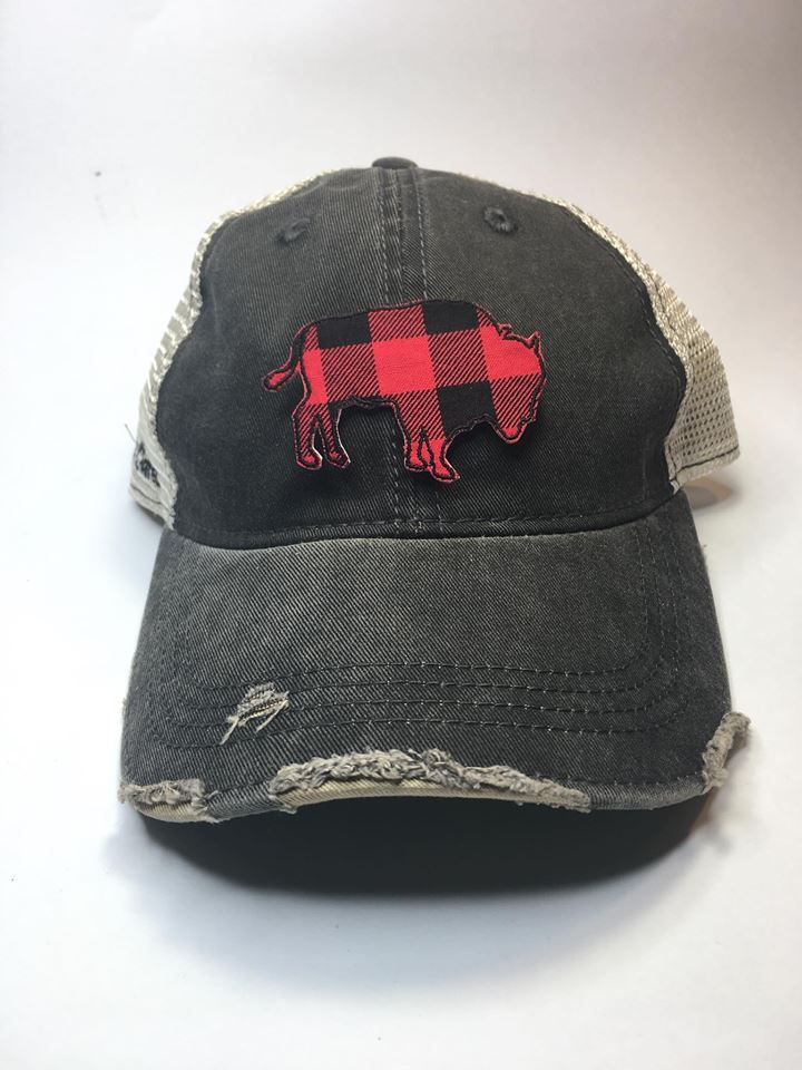 Buffalo Plaid Buffalo Hat