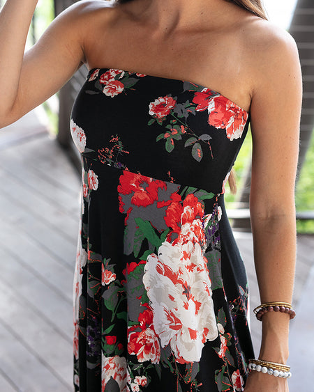 Floral Convertible Dress/Skirt