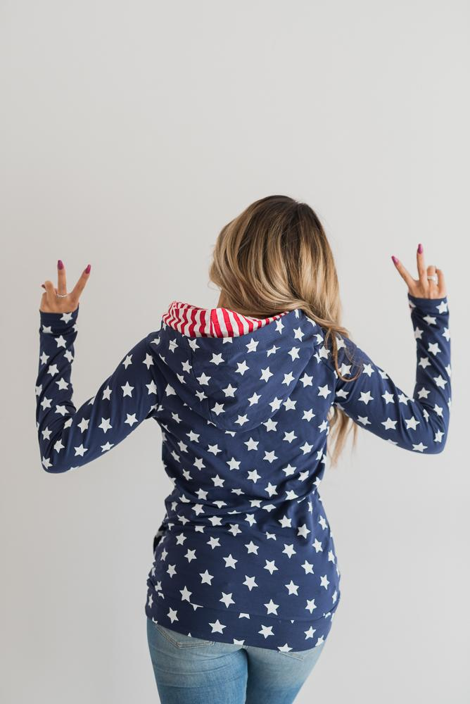 Stars & Striped Double Hoodie