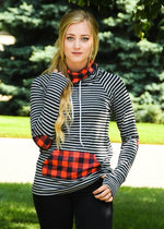 Gray Buffalo Plaid Sweatshirt