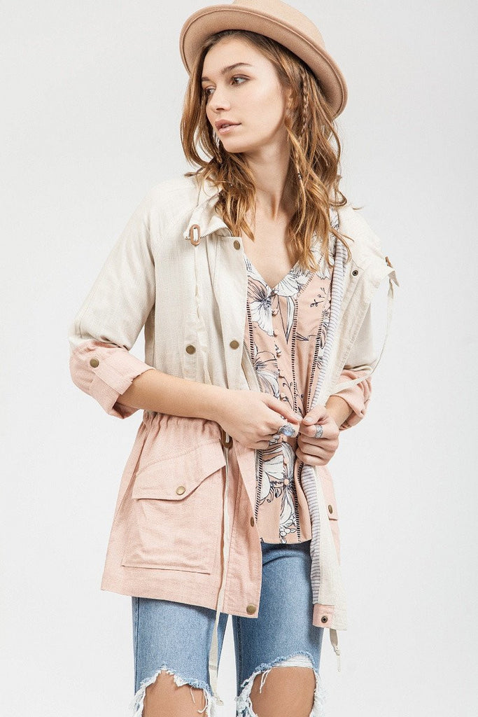 Dusty Pink Lightweight Spring Jacket