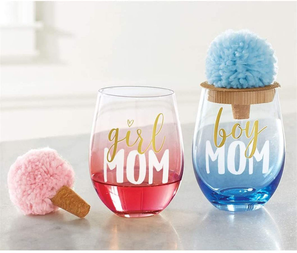Boy Mom Wine Glass
