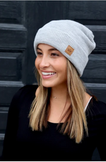 Light Grey Fleeced Lined Beanie