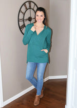 Grace & Lace Ultra-soft surplice pocket hoodie
