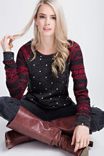 The Polka Dot Snowflake Pullover
