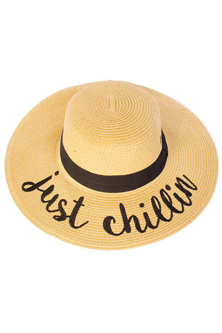 Just Chillin' Lettering Straw Hat