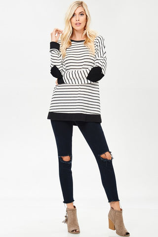 Haley Sweater with Heart Elbow Patches