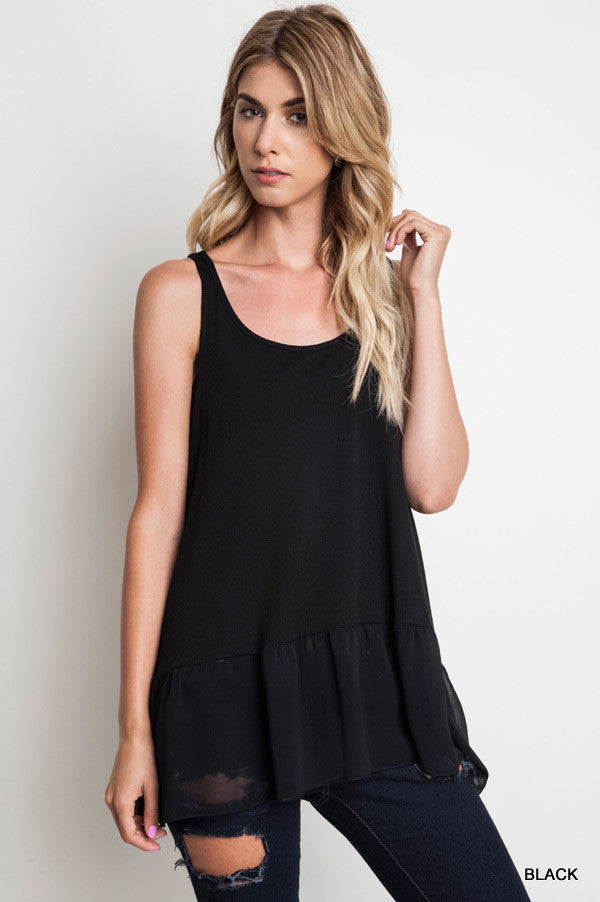 Ruffled Up Rib Tank