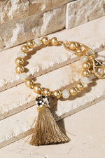 Tassel Key Ring Bracelet