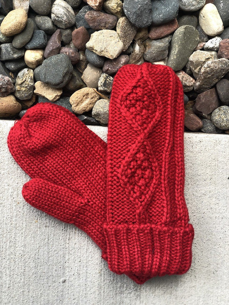 Red Mittens Fleece Lined