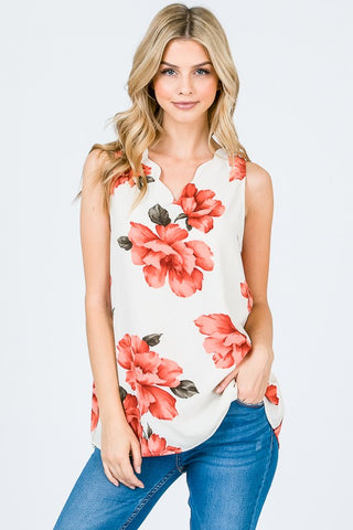 The Cami Solid Cold Shoulder Top - Pink