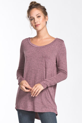 The Alyson Pleated Top - Mauve