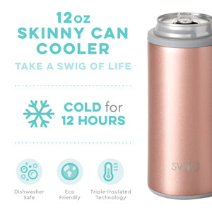 Rose Gold Swig 12oz Skinny Can Cooler