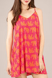 Sweet Elephant Dress with Pockets in Pink