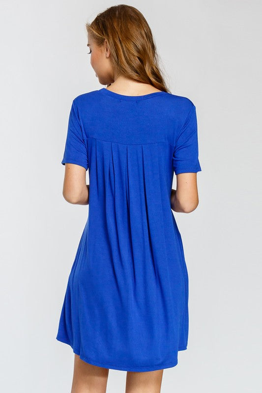 The Jamie Back Pleated Dress