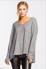 Cherish V-Neck Long Sleeve Top