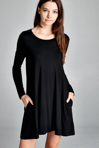 The Kyle Tunic Dress - Black