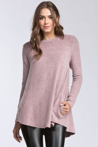 The Jameson Sweater with Pockets - Mauve
